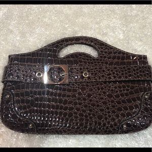 Vegan Croc Embossed Clutch